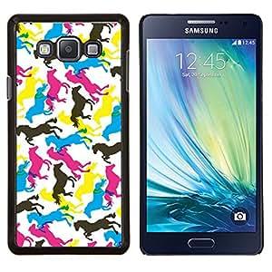 YiPhone /// Prima de resorte delgada de la cubierta del caso de Shell Armor - Caballos Arte colorido Random Wallpaper Caballo - Samsung Galaxy A7 A7000
