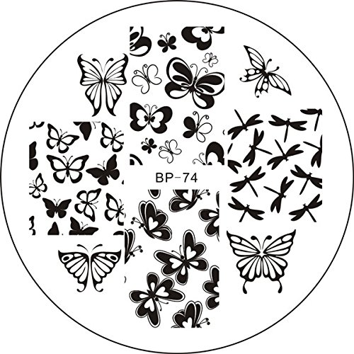 Born Pretty Nail Art Stamping Template Image Plate Various Butterfly BP74