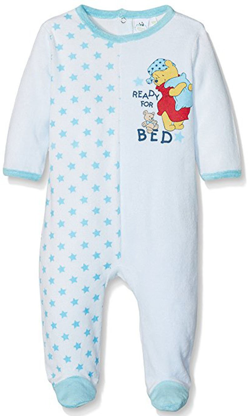 Pyjama velours bébé garçon Winnie l'ourson Bleu et Orange de 3 à 23mois (12 mois, Blanc/orange) Winnie l' ourson