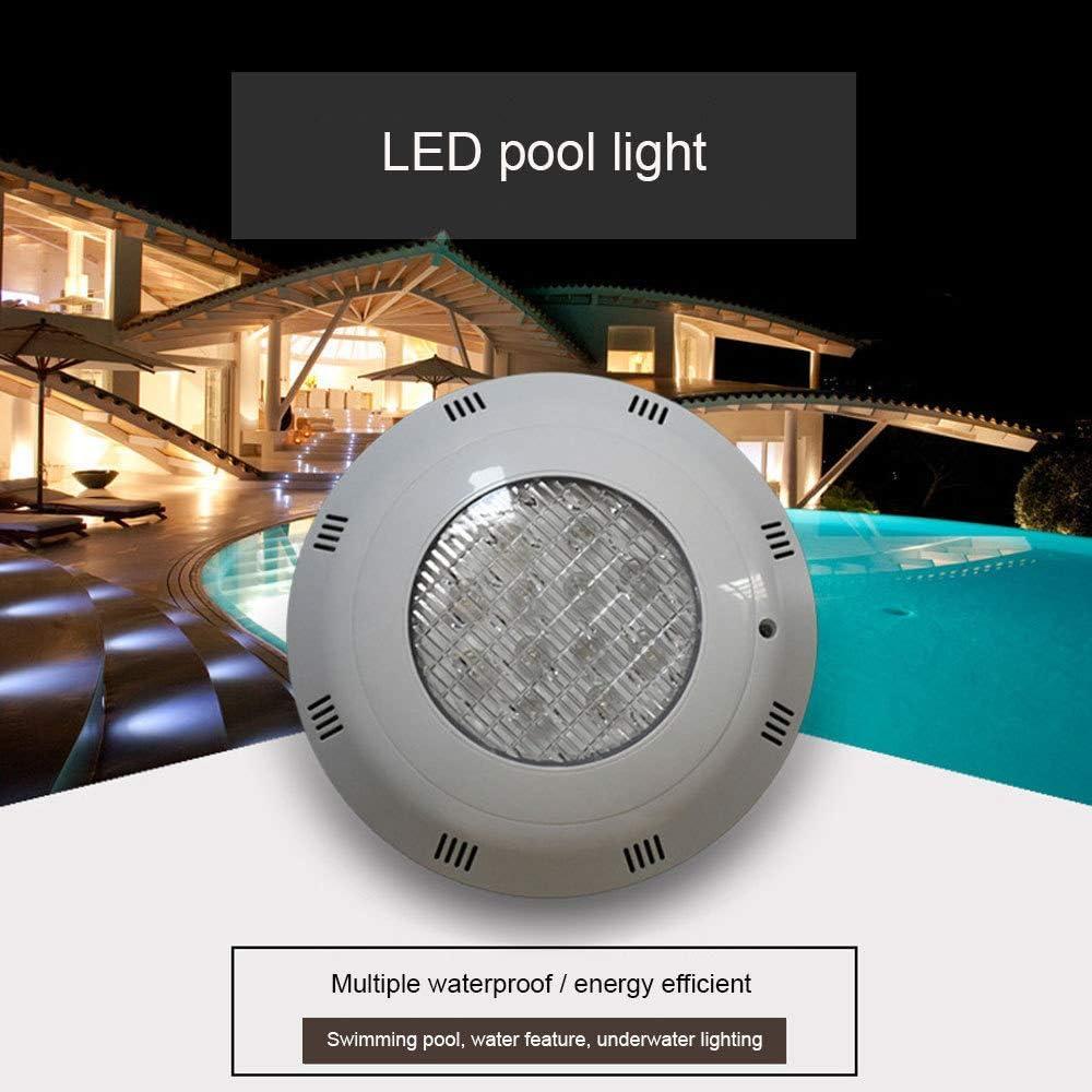 HaoLin Swimming Pool LightingRGB,divingLEDlightwaterproofIP68,Underwater Swimming Pool Lights,Colorful Remote Control Underwater Lights,White-15W: Amazon.es: Hogar