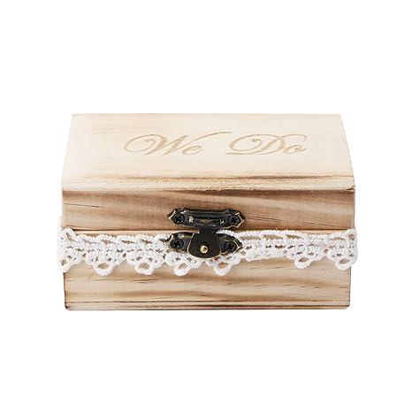 Youlin - Caja para anillos de madera, 10 x 6 x 5 cm, para ...