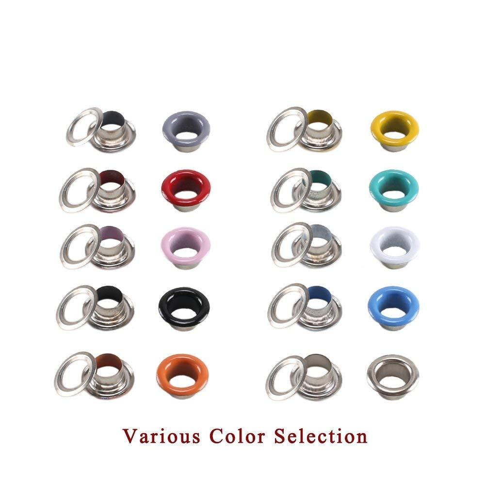 Amaoma Ojetes Metalicos 5mm Ojales Metalicos Multicolor 300 Piezas Kit de Ojetes Ojales de Metal con Herramientas de Instalaci/ón para Artesan/ía de Zapatos Ropa Bolsa 10 Colores