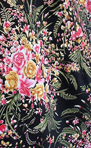 Silk Batik Fabric (RaanPahMuang Silk Line Chinese Flower Art on Indonesian Batik Fabric 45in x 1yrd, Black)