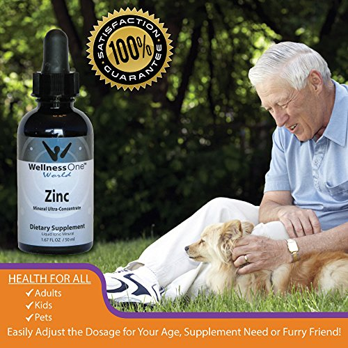 Zinc - Premium Liquid Ionic Mineral Immune Health Support Supplement(100 days at 15 mg Per 10 Drop Serving) 50 ml Bottle by WellnessOne (Image #6)