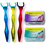 T.Smile Evolutionary Clean Dental Flossers, Kit of Handle(s) Plus Refillable Heads, 50 Tightened 2-strand Refills, +50 Extra