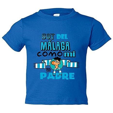 Camiseta niño soy del Málaga como mi padre Jorge Crespo Cano - Azul Royal, 3