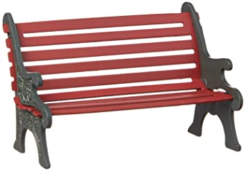 Incredible Department 56 Village Cross Product Accessories Wrought Iron Park Bench Figurine 2 25 Inch Red Ibusinesslaw Wood Chair Design Ideas Ibusinesslaworg