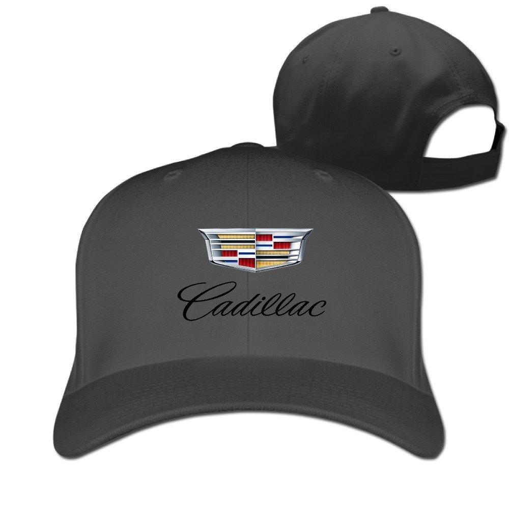 Hittings OAO Cadillac Logo Peaked Baseball Caps Hats For Unisex Black