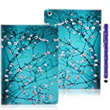 We Love Case iPad Air / iPad 5 Case Premium PU Leather Folio Cover Wallet Case Cherry Blossoms Pattern Flip Case With Stand Function / Card Slots Protective Skin Book Cover For Apple iPad Air / iPad 5