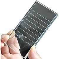 MINGZE 2-in-1 Enten Wimper Standplaat, Kristal Transparant Glas Valse Wimpers Extensie Stand Basis Pallet Houder…