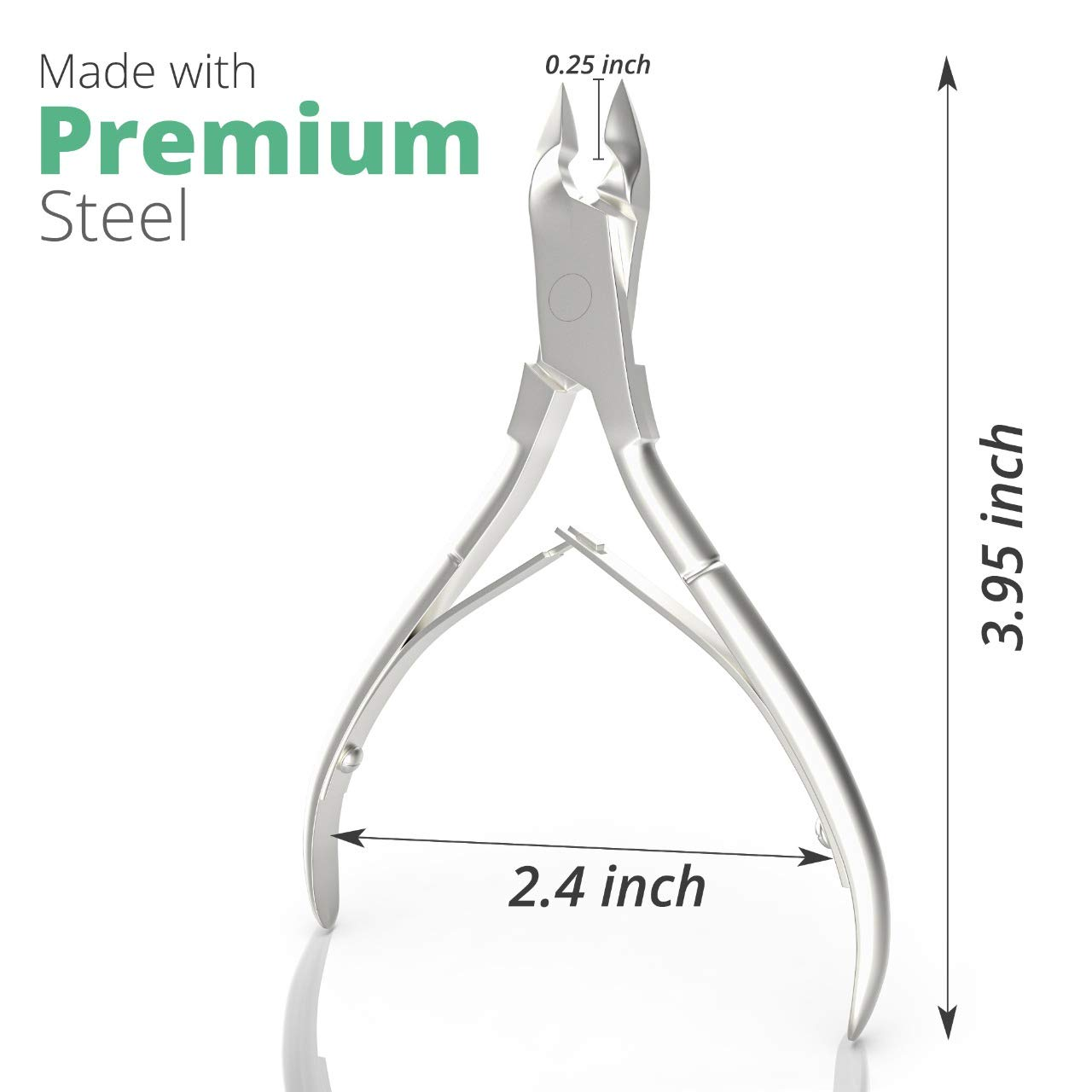 Premium Cuticle Trimmer Stainless Steel Nipper – Sharp Blades with Double Spring – Manicure Pedicure Tool for Home and Salon: Home Improvement