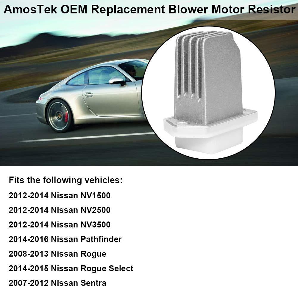 HVAC Fan Blower Motor Resistor Replaces# 27761-4BA0A, 27226-70T03 for  2012-2014 Nissan NV1500 NV2500 NV3500, 2014-2016 Nissan Pathfinder,  2007-2012