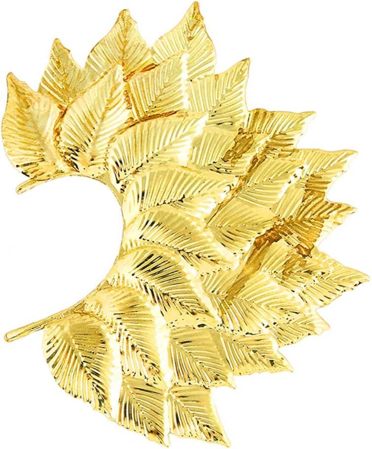 certylu Mujeres Eardrop, Big Leaf Pendiente Pendiente No Piercing Orejas Clip Un Babero Lateral