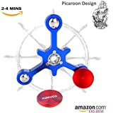Fidget Spinner Finger Toy Aluminum Alloy Best Stress Reducer Spinning Top for EDC ADHD Anxiety Time Killing with Max 4 Mins Spinning Time -by KOMVOX