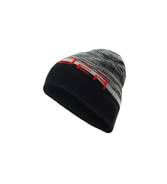 e77d250cbc3b24 Amazon.com: Spyder Men's Reversible Word Hat, Alloy/Black/Volcano ...