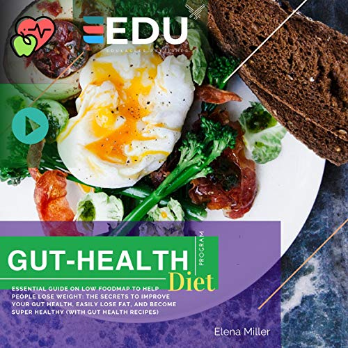Gut Health Diet Program: Low Food Map Ultimate Guide 2019: The Fast and Easy Low-Food Map Diet Plan without Stress: Stop Suffering IBS and SIBO with the Fast and Easy Low Foodmap Diet by Elena Miller