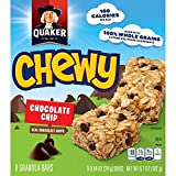 Quaker Chewy Granola Bars, Chocolate Chip, 24g.Bar/8 Bars Per Box (Pack of 6) offers
