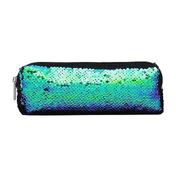 fac7b6c93ec4e TianranRT Frauen Mädchen Mode Doppel Farbe Pailletten Stift Tasche Speicher  Tasche Damen Handtasche Beutel (Grün)  Amazon.de  Baumarkt