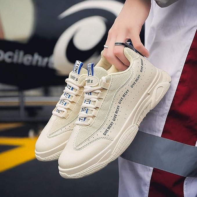 Darringls Zapatillas Deportivas para Correr Usar Zapatillas de Deporte de Color sólido para Hombres Atlético Corriendo Respirable Deportes Zapatos Moda Casual Al Aire Libre 39-44: Amazon.es: Ropa y accesorios
