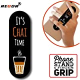 Regor Finger Grip/Selfie Holder and Mobile Stand for iPhones and Android Smartphones - Chai