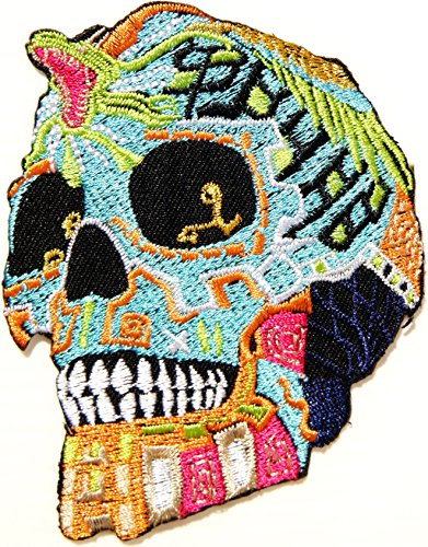 [King Cobra Snake Skull Ghost Day Of The Death Love Never Die Rockabilly Lady Rider Hippie Punk Tatoo Jacket T-shirt Patch Sew Iron on Embroidered Sign Badge] (Cobra Snake Halloween Costumes)