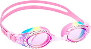 Yuenree Kids Swim Goggles - Swimming Goggles for Girls - Anti-Fog, No Leak, UV Protection, Easy to Adjust - with Hard Case