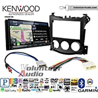 Volunteer Audio Kenwood DNX874S Double Din Radio Install Kit with GPS Navigation Apple CarPlay Android Auto Fits 2009-2016 Nissan 370Z