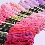Premium Rainbow Color Embroidery Floss 140 Skeins