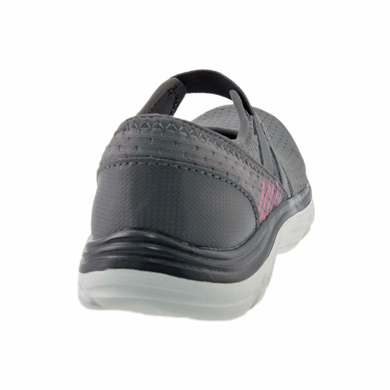BZees Womens Brisk Low Top Slip On Walking Shoes, Grey, Size 5.0