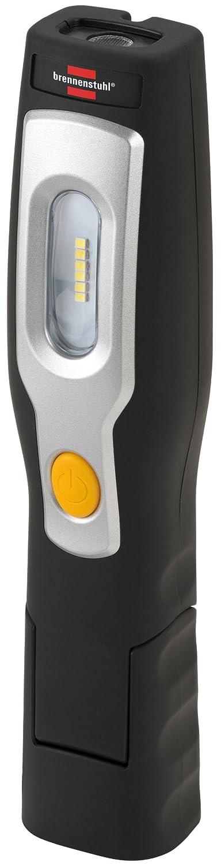Brennenstuhl LED Taschenlampe mit Akku / Multifunktionsleuchte mit 6 hellen SMD-LED (3 Stunden Leuchtdauer, inkl Netzteil und Ladekabel) Farbe: schwarz 1175450