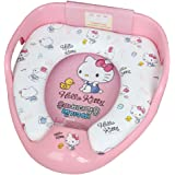 子供用 補助便座 子供用トイレ 幼児用便座 ベビー補助便座 取っ手付き型補助便座 滑り止め 安心な 素材 持ち手が握りやすい トイレトレーニング可能 (Hello Kitty Pink) [並行輸入品]