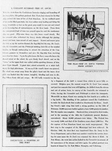 (Photo: Illustrations,gunboats,ST. LOUIS,viewed from astern,LOUISVILLE,1911,Civil War)