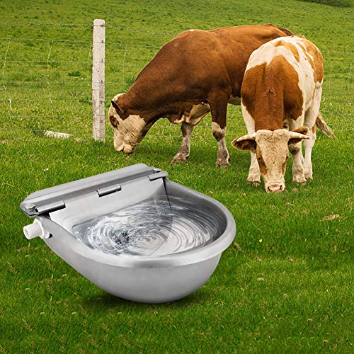 Ridgeyard Outdoor Farming Automatic Stock Pet Waterer Water Trough Stainless Steel Sheep Dog Chicken Cow Auto Fill Bowl