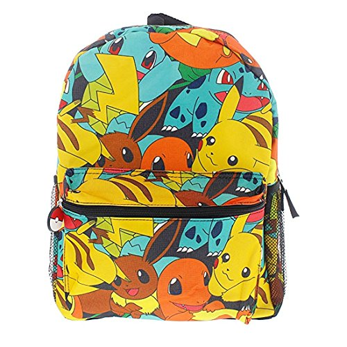 Pokemon 16 Canvas Backpack - School Bag -