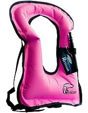 Rrtizan Men/Women Snorkel Vest Adult Inflatable Snorkeling Jacket for Diving Swimming Safety …