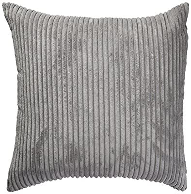 Home Brilliant Solid Decorative Toss Pillow Case Striped Corduroy Cushion Cover for Sofa