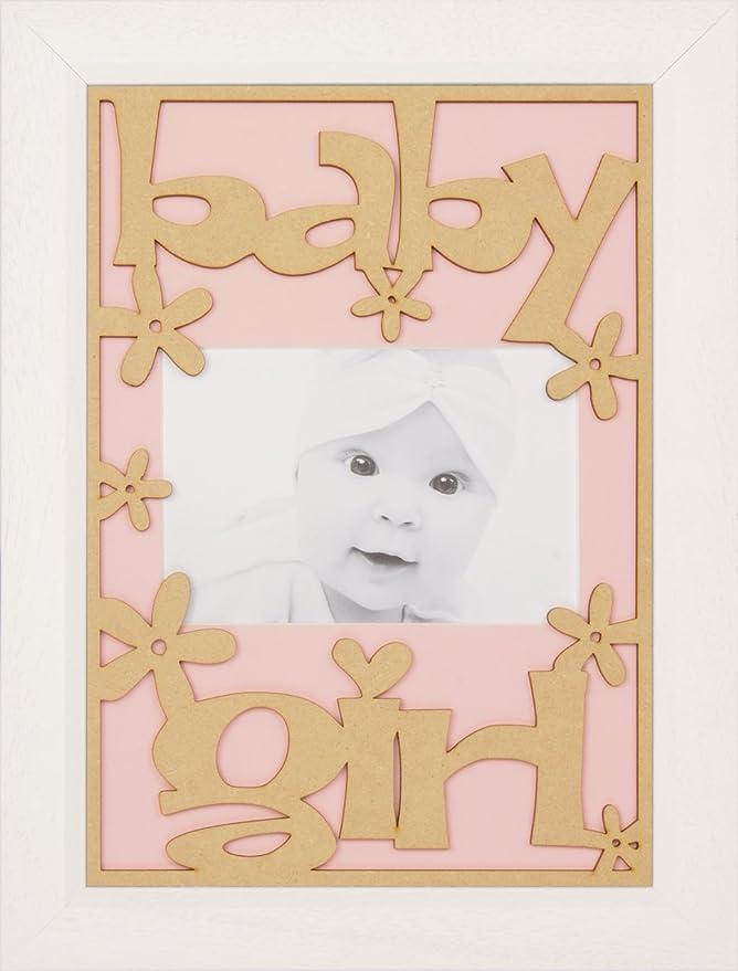 BabyRice Baby Mädchen-Farbe auswählen, Wandhalterung, Holz ...
