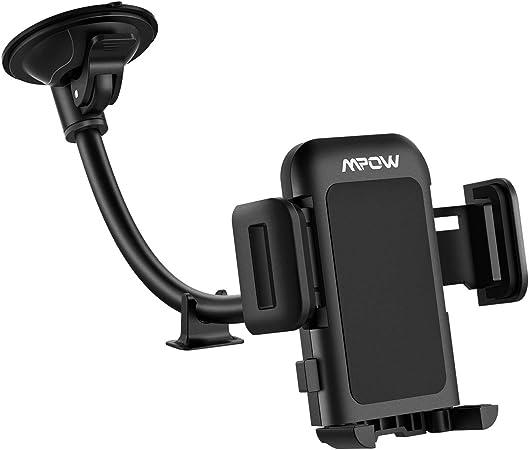 Mpow Kfz Handyhalterung Windschutzscheibe Langer Arm Autohalterung Mit Ein Knopf Design Und Anti Rutsch Basis Kompatibel Mit Iphone Xs Xr X 8 7 7p 6s Galaxy S10 S9 S8 Google Lg Htc Elektronik