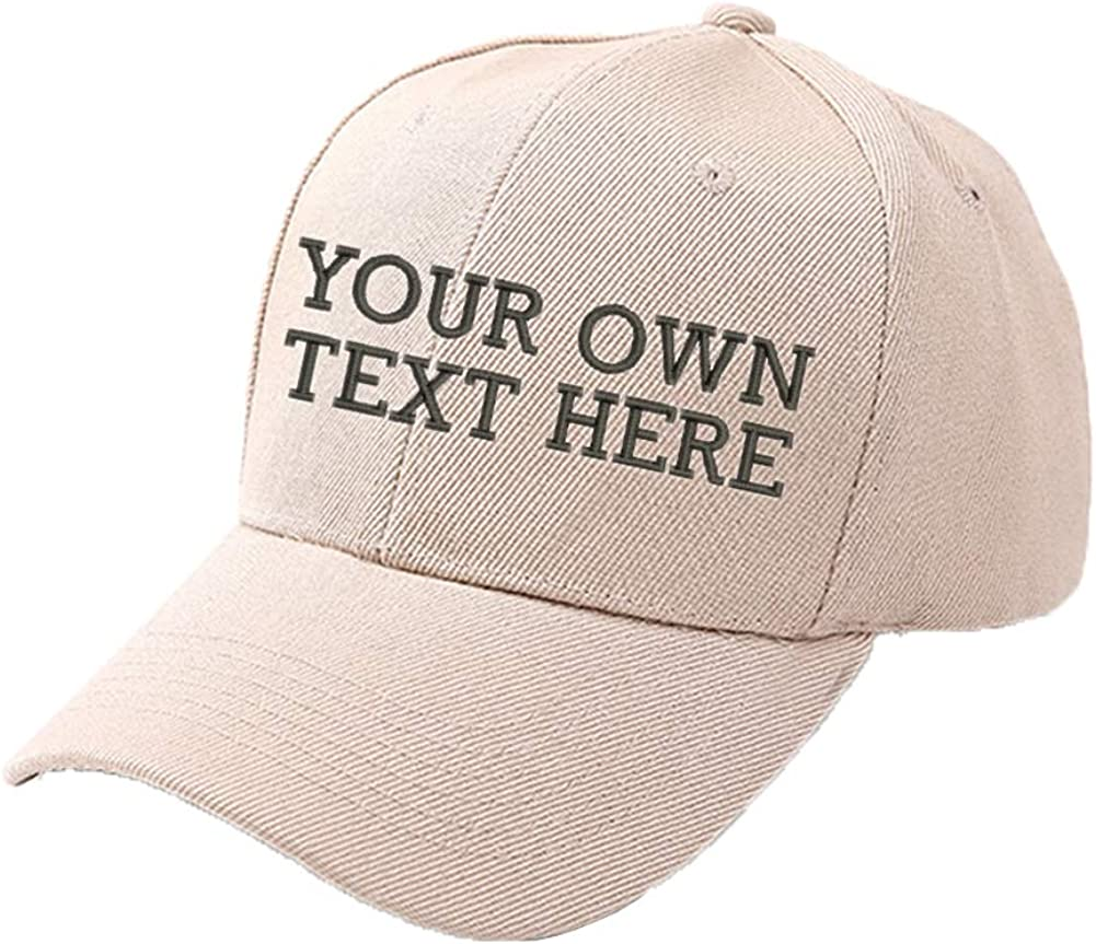 Any Color Custom Hat Your Text Here Personalized  Cap Baseball Logo Design 2D or 3D Puff Embroidery Customizable Personalized Hat
