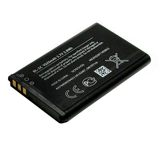 Generic Battery Compatible for Nokia BL 5C 1100mAh  Black  Mobile Phone Batteries