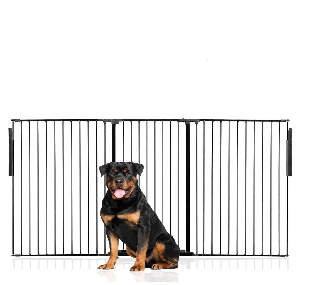 Black Upto 216cm (105cm Tall)Bettacare Premium Multi Panel Flexible Pet Barrier (Upto 360cm (105cm Tall), White)