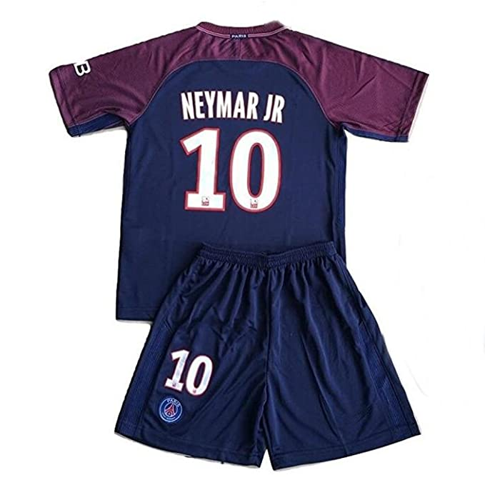 f0f89447dbd Image Unavailable. Image not available for. Color   10 Neymar Jr PSG 2017-2018  Kids Youths Home Soccer Jersey   Shorts