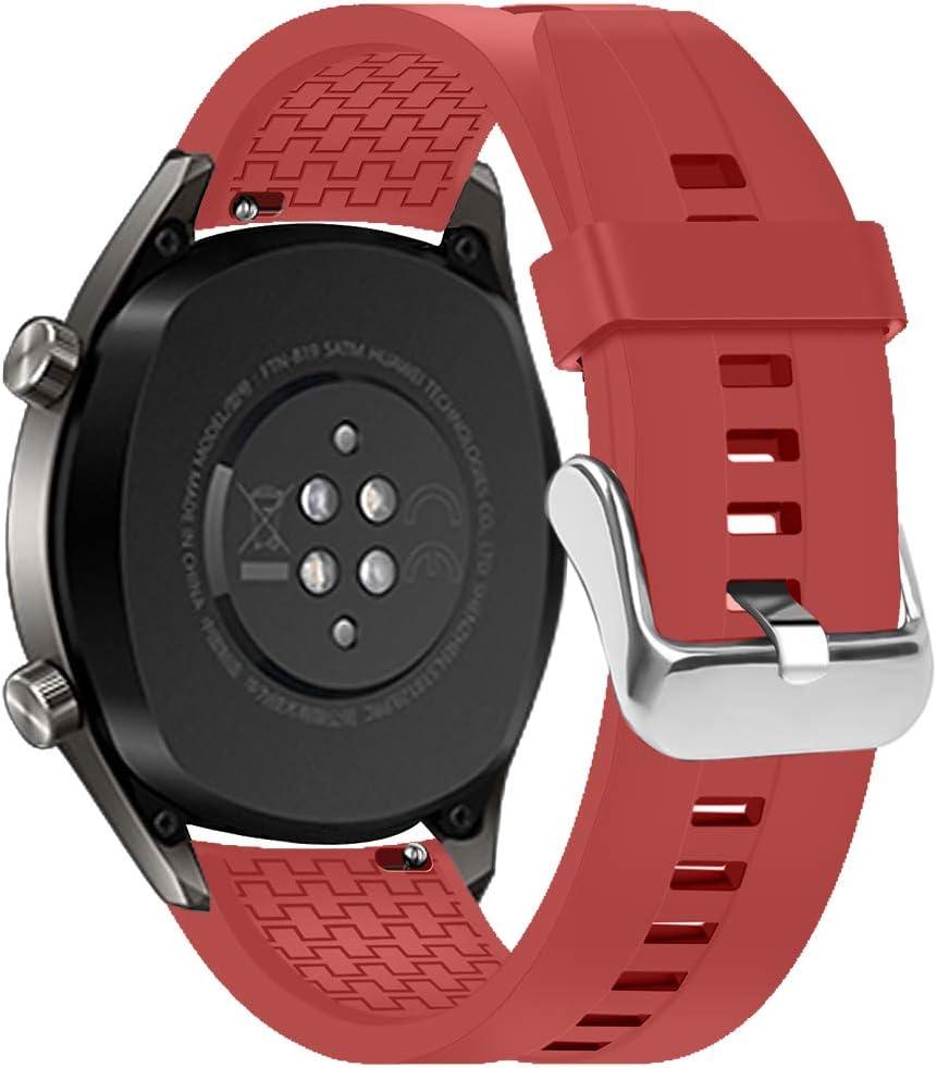 Coholl Compatible con 22mm Correa de Reloj Huawei Watch GT 46mm/Watch GT Active/Watch 2 Pro/Honor Watch Magic/Samsung Galaxy Watch 46mm/Gear S3, Watch Band de Silicona Suave.(Naranja)