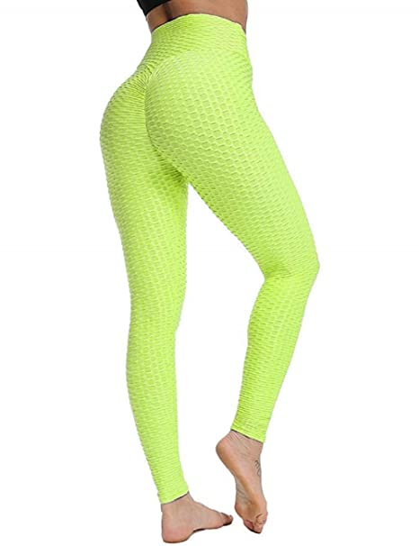 SotRong Adelgazantes Mallas Running Mujer Leggings de Yoga Fruncidos Control de barriga Levantamiento de glúteos Empujar