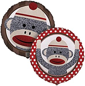 Birthday Express - Sock Monkey Red Foil Balloon