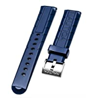 nautica da uomo NAD21005G Nsr 103 Tide Temp Compass 22 mm blu originale di ricambio Watch Band/cinghia