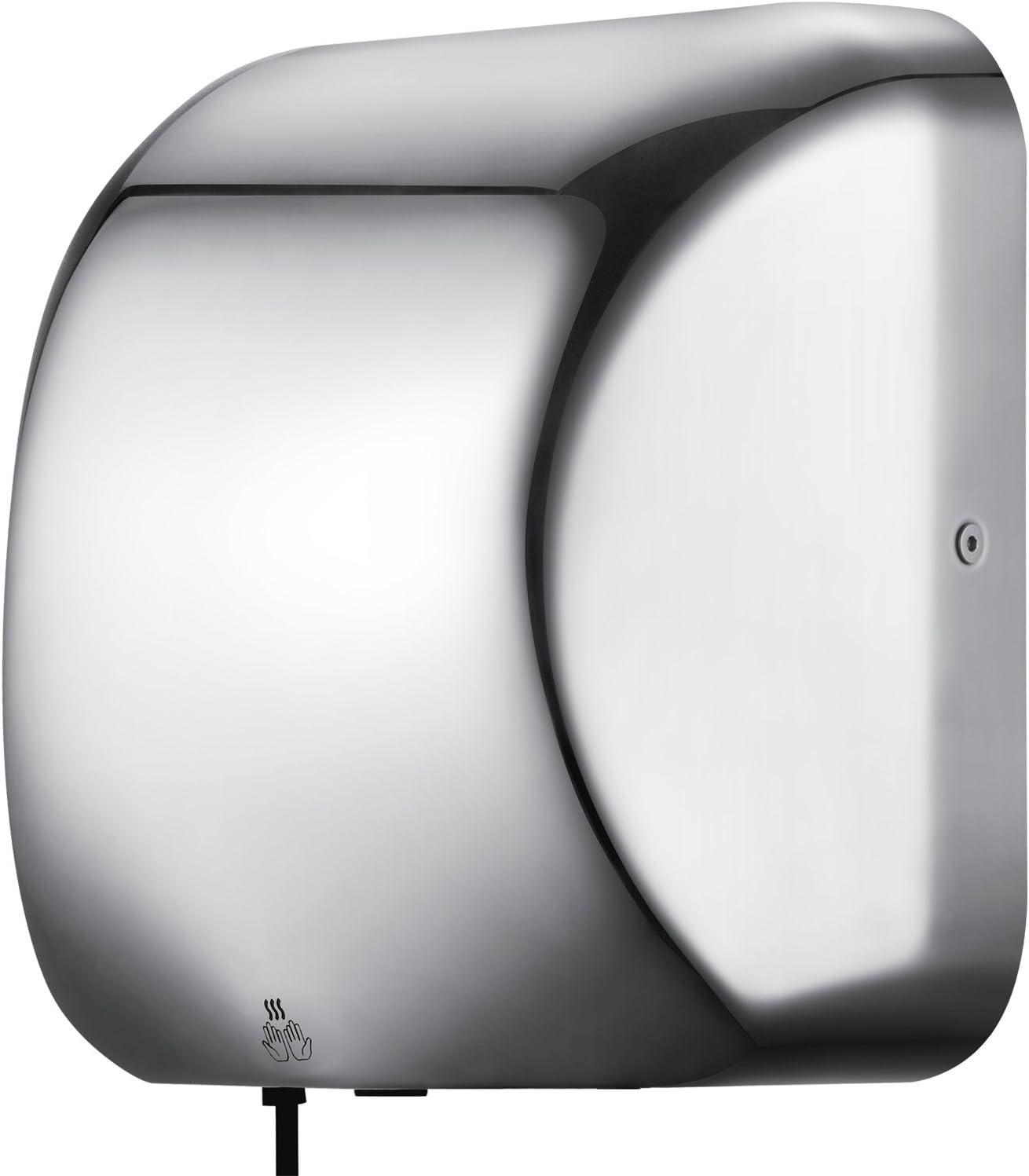 Bild Logo Ambesten 1800W Elektrische H/ändetrockner Automatischer Handtrockner Electric Hand Dryer Elektrische H/ändetrockner Edelstahl Kommerzielle H/ändetrockner f/ür Toiletten Waschr/äume Hohen Verkehr
