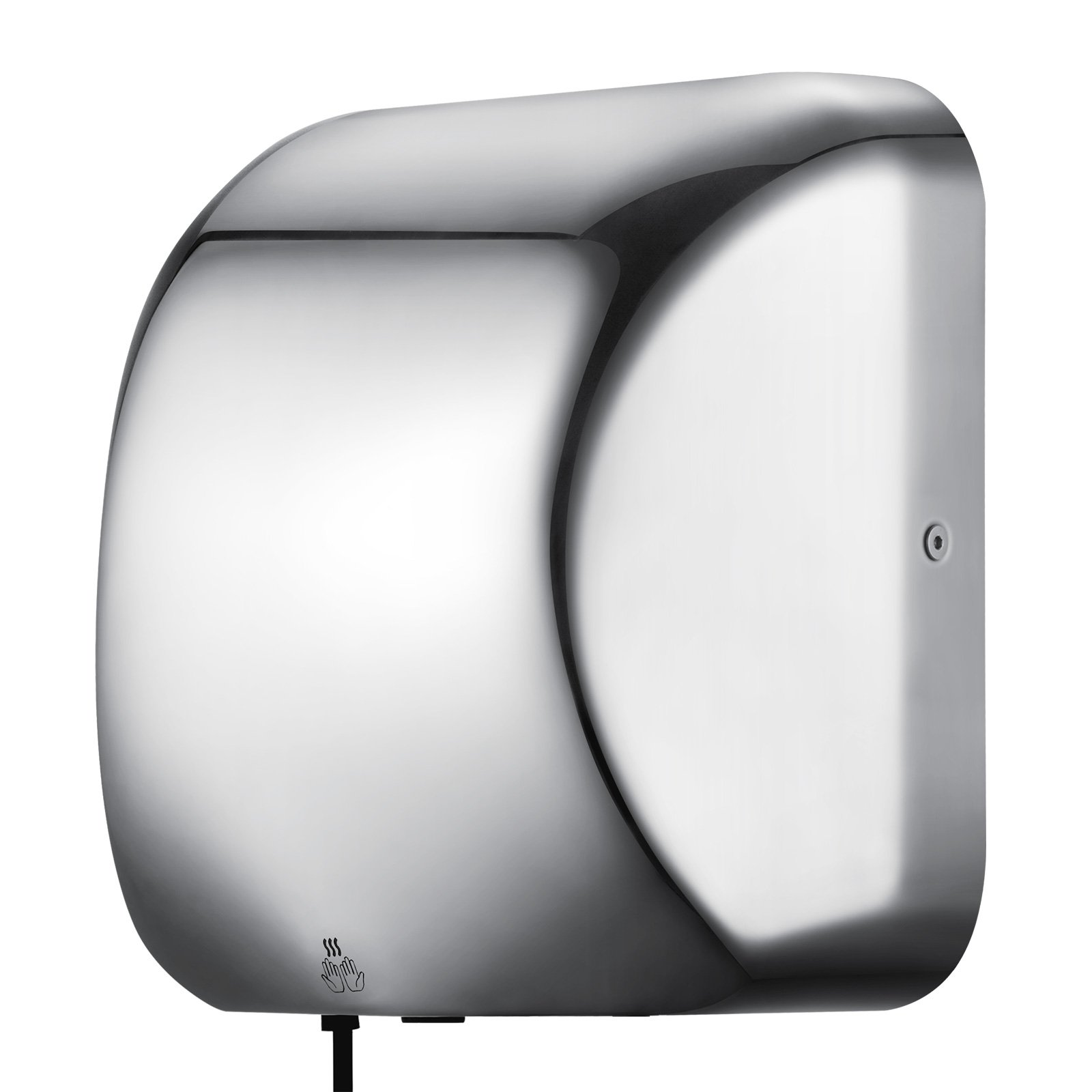 Mophorn 1800W Electric Hand Dryer Commercial Hand Dryer Automatic Sensor Stainless Steel Hand Dryer for Hotel Home Bathrooms (Picture Logo)