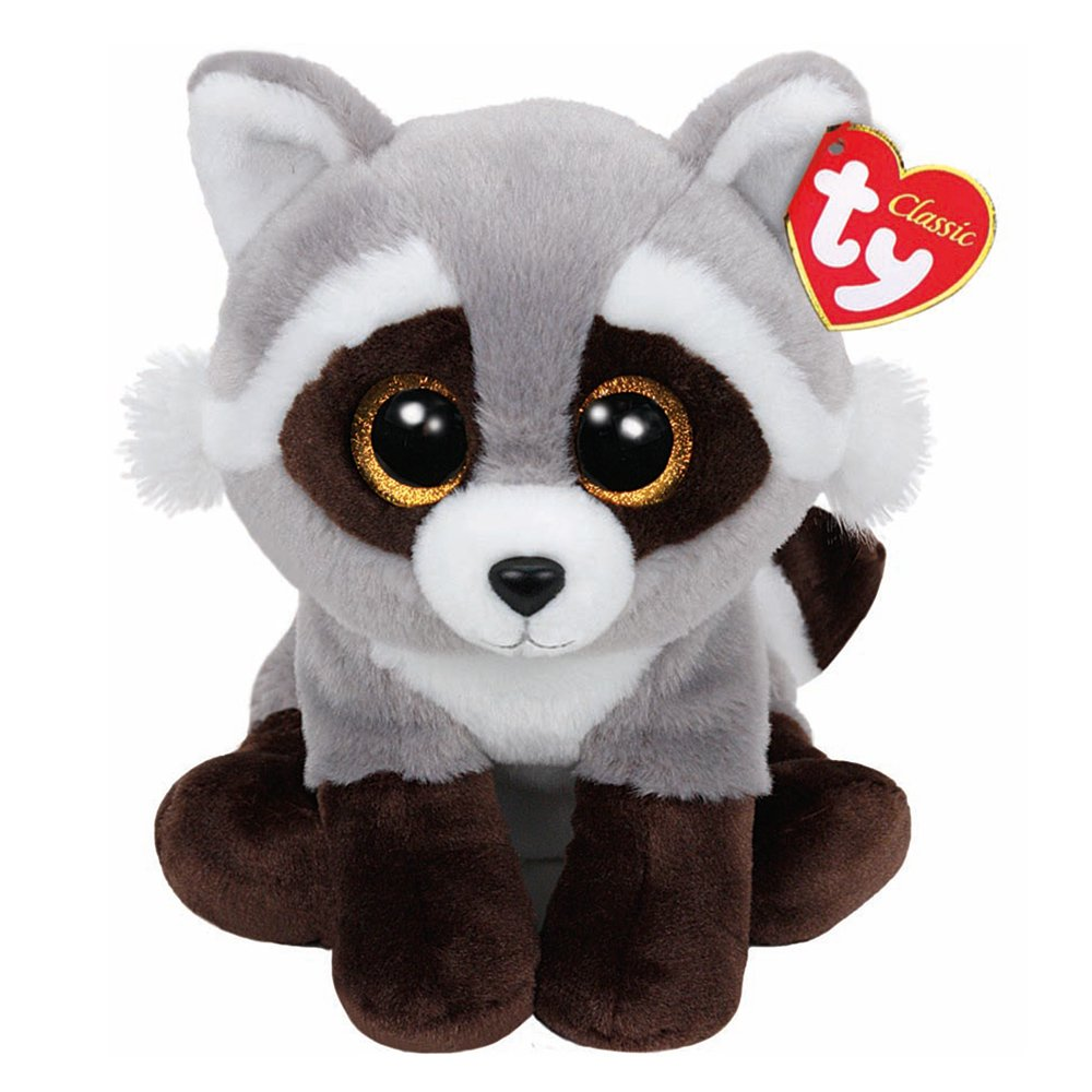 Ty Classic Beanies TY Classic Plush - BANDIT the RACCOON (13 inch from tail) 25cm Medium Buddy Size 9 …