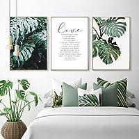 XIXISA Planta Verde Tropical Hoja Escandinavo Cartel Arte